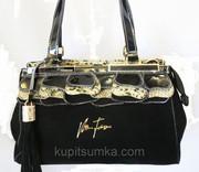 Женская сумка черная со стразами Velina Fabbiano