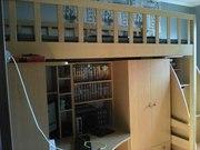 Кровать для 2 яруса(бук)+тумбочка лестница