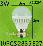 Лампа светодиодная 3 Вт. E27