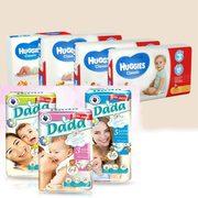 Продам оптом подгузники Dada (Comfort fit,  Premium extra soft),  Haggie
