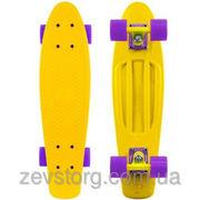 Скейтборд скейт Penny Board желтый (Пенни борд): 6 цветов (лонгборд)