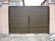 Распашные ворота алюминиевые АДС 400 Алютех